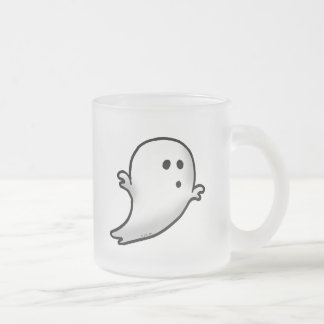 Little ghost frosted glass coffee mug