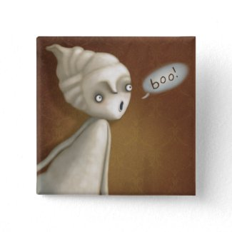 Little Ghost Girl Halloween Buttons!