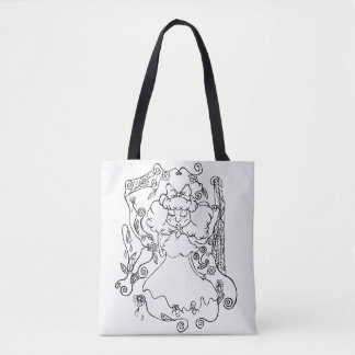 Little Ghost Girl Tote Bag