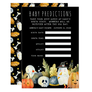 Little Ghost | Halloween Baby Shower Guessing Game Invitation