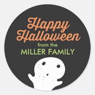 Little Ghost Halloween Classic Round Sticker