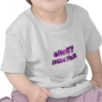 little ghost hunter purple and white shirt