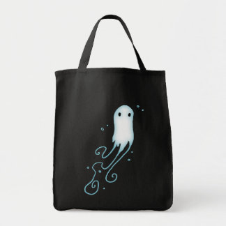 Little Ghost With Swirls Grocery Tote Bag