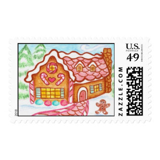 Little Gingerbread House Postage