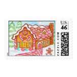 Little Gingerbread House Postage Stamps