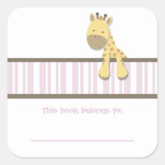 Little Giraffe {Pink} | Bookplates