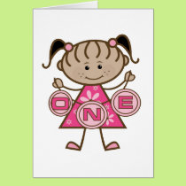 Little Girl 1st Birthday T-shirts and Gifts Card