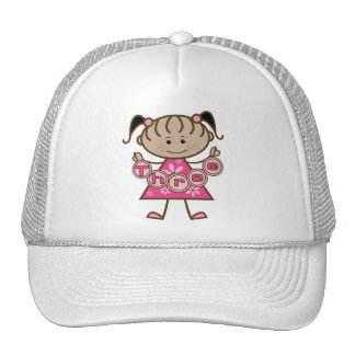 Little Girl 3rd Birthday Tshirts and Gifts Trucker Hat
