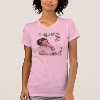 Little Girl and  Blue Bird T-Shirt