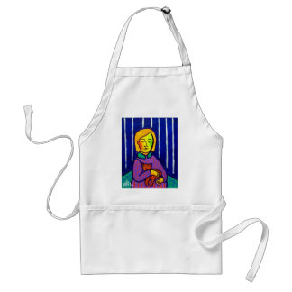Little Girl and Cat by Piliero Apron