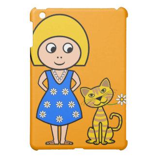 Little Girl and Cat iPad Mini Cases