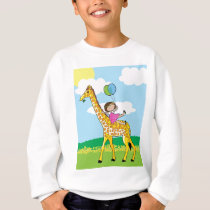 Little Girl and Giraffe Sweatshirt