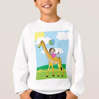 Little Girl and Giraffe Sweatshirt
