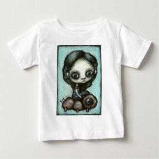 Little girl and her friend caterpillar baby T-Shirt