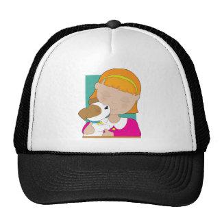 Little Girl and Puppy Trucker Hat