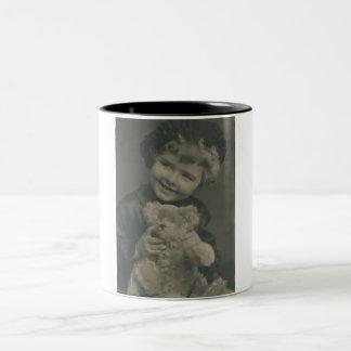 little girl and teddy bear mug