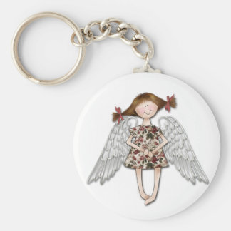 Little Girl Angel Keychain