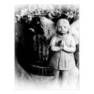 Little Girl Angel Praying Postcard