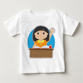 Little Girl at School Asian Tee Shirt
