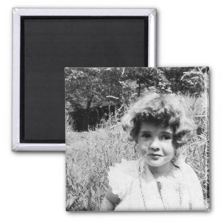 Little Girl b&w Magnet - Vintage Photo Series