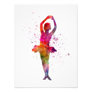 Little girl ballerina ballet dancer dancing cojinete