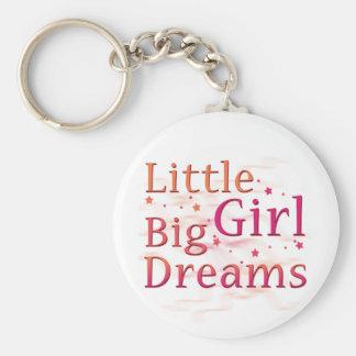 Little Girl Big Dreams Basic Round Button Keychain