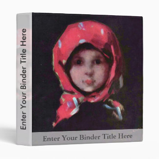 Little Girl By Grigorescu Nicolae Best Quality 3 Ring Binders