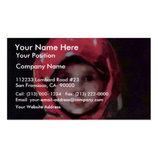 Little Girl By Grigorescu Nicolae Best Quality Business Card