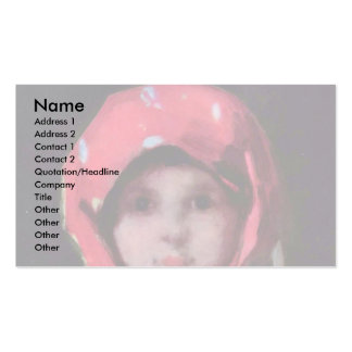 Little Girl By Grigorescu Nicolae Best Quality Business Cards