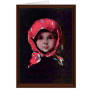 Little Girl By Grigorescu Nicolae Best Quality Card