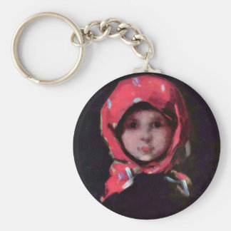 Little Girl By Grigorescu Nicolae Best Quality Key Chain