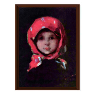 Little Girl By Grigorescu Nicolae Best Quality Postcard