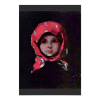 Little Girl By Grigorescu Nicolae Best Quality Print