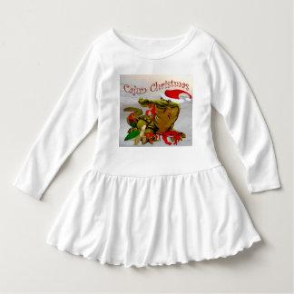 little girl  cajun santa christmas dress tee shirts