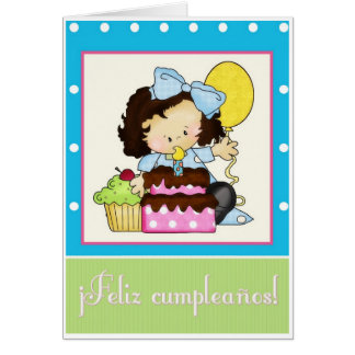 happy birthday in spanish greeting cards  zazzle, Birthday card