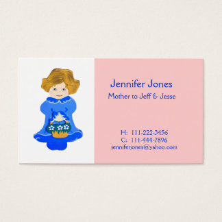 Little Girl Calling Card