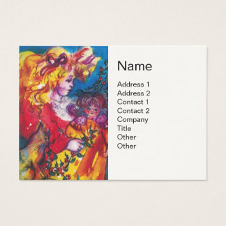 LITTLE GIRL,CAT AND PRETTY DOLL White Business Card