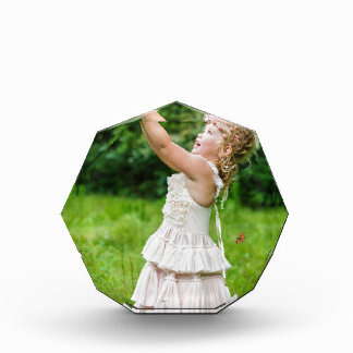 Little Girl Catching a Butterly Acrylic Award