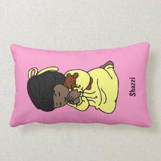 Little Girl Custom Prayer Pillow: African-American Lumbar Pillow