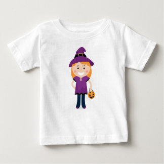 Little girl designers t-shirt with Witch