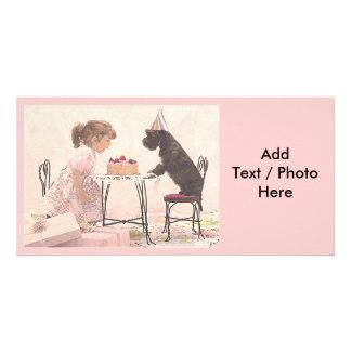 Little Girl & Dog Celelbration Card
