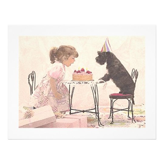 Little Girl & Dog Celelbration Flyer