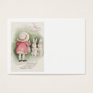 Little Girl Easter Bunny Rabbit Business Card