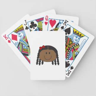 LITTLE GIRL FACE BICYCLE PLAYING CARDS