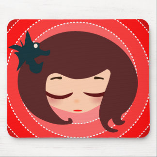 little girl face mouse pad