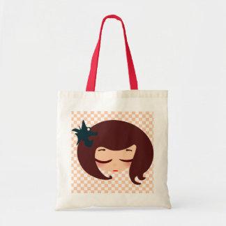 little girl face tote bag