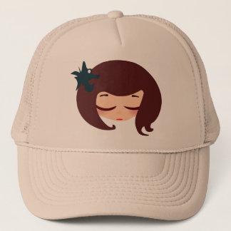 little girl face trucker hat