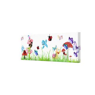 Little Girl Garden Canvas Print
