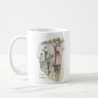 Little Girl Gone Fishin...  Coffee Mug