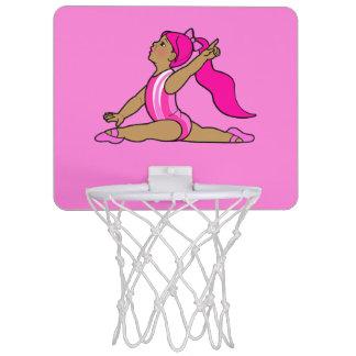 Little Girl Gymnast Mini Basketball Hoop